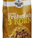 Knusper Frühstück 3-Korn glutenfrei Bio