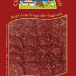 Chili-Salami geschnitten