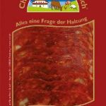 Chorizo-Salami geschnitten