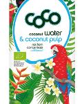 Coco Water & Coconut Pulp Fairtrade Pur 1000ml