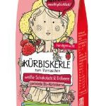 Geröstete Bio-Kürbiskerne veredelt mit weißer Schokolade & Erdbeere