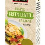 Lasagne aus grünen Linsen, glutenfrei