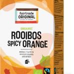 Biologischer Rooibos Spicy Orange Tea. Fairtrade. 20 Teebeutel.