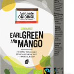 Biologischer Earl Green & Mango Tea. Fairtrade. 20 Teebeutel.